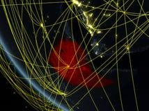 在埃塞俄比亚附近的网络从空间 皇族释放例证