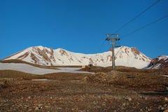 在埃尔吉耶斯山的早晨 免版税库存图片