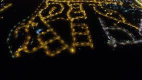 在埃尔金的夜飞行 免版税库存图片