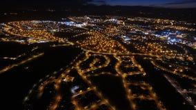 在埃尔金的夜飞行 库存图片