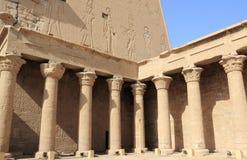 在埃德富里面寺庙  埃及 图库摄影