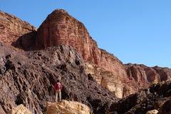 在埃拉特山的风景风景 免版税库存图片