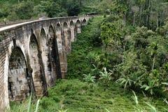 在埃拉附近的九曲拱桥梁 库存照片