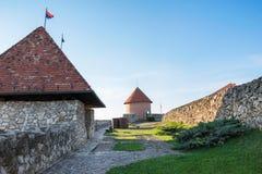 在埃格尔,匈牙利城堡的城楼  免版税库存照片
