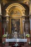 在埃格尔,匈牙利大教堂的主要法坛  图库摄影