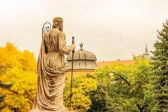 在埃格尔,匈牙利大教堂的雕塑  免版税库存照片