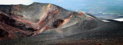 在埃特纳火山的边的月球风景 免版税图库摄影