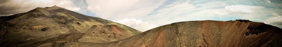 在埃特纳火山的边的月球风景 库存图片