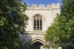 在埋葬St埃德蒙兹的修道院门 库存图片