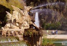 在城堡公园的新来的人喷泉 库存图片