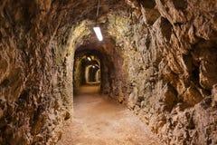 在城堡库夫施泰因-奥地利的秘密隧道 免版税图库摄影