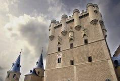 在城堡的塔在Segovia 库存图片
