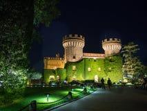 在城堡的夜 库存图片