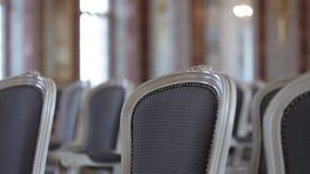 在城堡的椅子在仪式前 股票录像