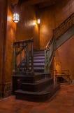 在城堡的楼梯 免版税库存图片