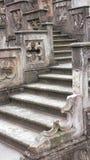 在城堡的石楼梯 免版税图库摄影