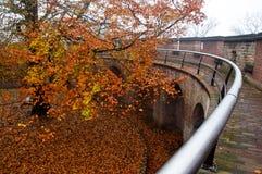 在城堡的秋天 库存照片