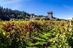 在城堡的秋天 免版税图库摄影
