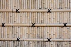 在城堡的竹墙壁在京都,日本 库存图片