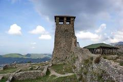 在城堡的老塔地区在克鲁亚,阿尔巴尼亚 库存图片