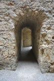 在城堡的走廊 库存照片