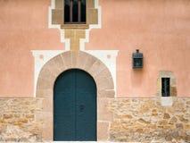 在城堡的门 库存照片