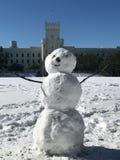 在城堡的雪人 库存图片