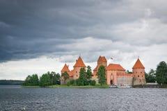 在城堡的风暴 免版税图库摄影