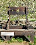 在城堡的Pilorry 免版税库存图片