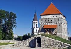 在城堡里面在塔的看法 免版税库存照片