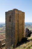 在城堡洛阿雷(韦斯卡省,萨瓦格萨、阿拉贡,西班牙的省的城楼) 库存图片