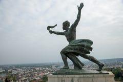 在城堡Gellert的雕象在布达佩斯06 免版税图库摄影