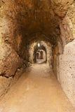 在城堡Kufstein -奥地利的秘密隧道 免版税库存图片