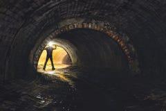 在城市下的地下系统 库存图片