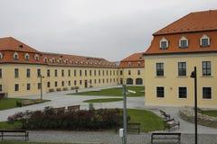 在城市中心的布拉索夫城堡 库存照片