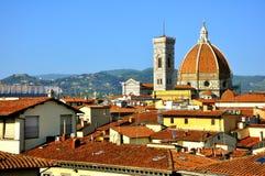 在城市佛罗伦萨视图之上 库存图片