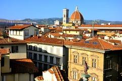 在城市佛罗伦萨视图之上 图库摄影