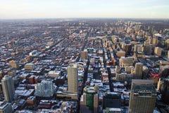 在城市多伦多之上 免版税库存照片