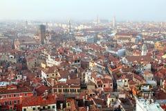 在城市威尼斯视图之上 库存图片