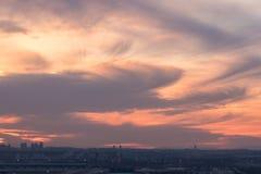 在城市的天空 免版税库存照片
