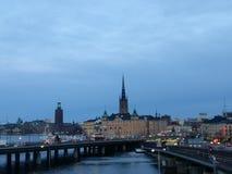 在城市的斯德哥尔摩视图 免版税图库摄影