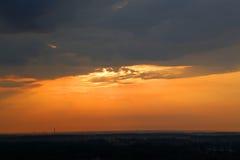 在城市的日出,早晨风景Monum天空覆盖,文化,建筑学ents  库存照片