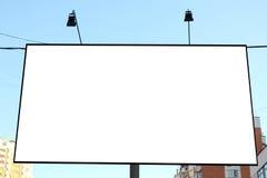 在城市的路旁广告牌 免版税库存图片