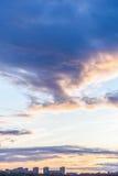 在城市的阴云密布 免版税图库摄影