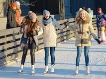 在城市的滑冰场 库存照片