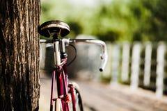 在城市街道上的路自行车 图库摄影