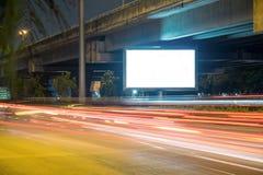 在城市街道的广告牌,黑屏包括的裁减路线 免版税图库摄影