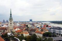 在城市视图之上 图库摄影