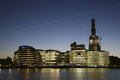 在城市都市风景大厅伦敦附近 库存图片