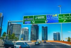 在城市,墨尔本-澳大利亚附近交易 免版税图库摄影